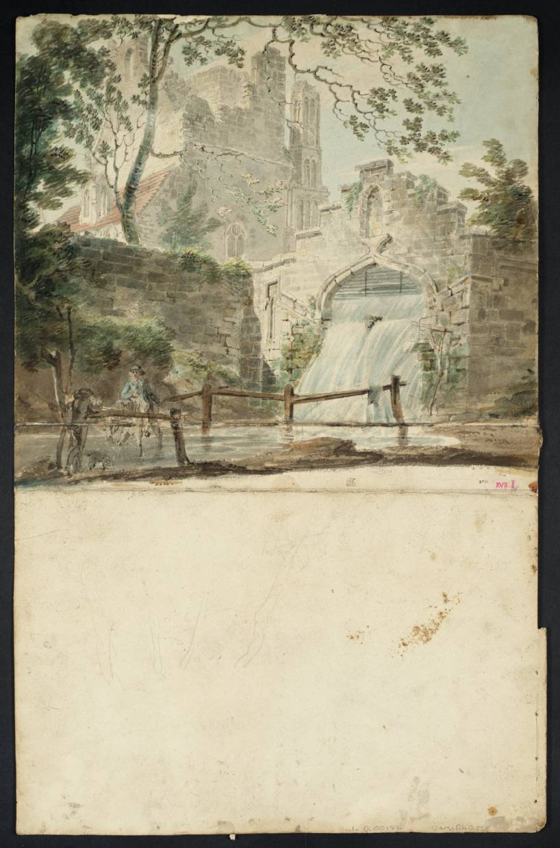 Joseph Mallord William Turner. West Malling, St. Mary's Abbey with the cascade