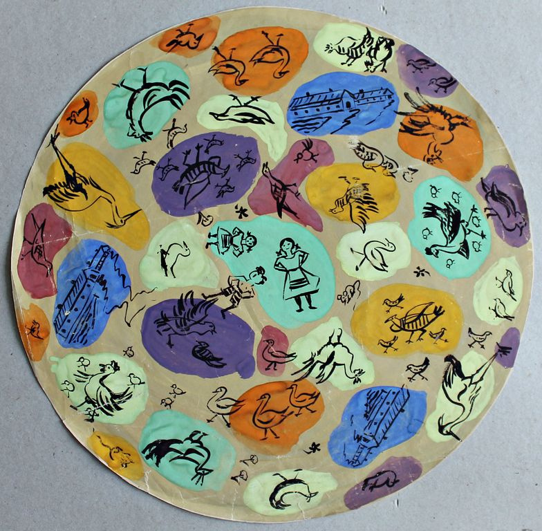 Natalia Vissarionovna Smirnova. Composition of painting plates for porcelain