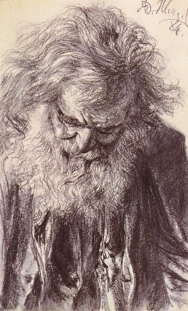 Адольф фон Менцель. Портрет старика
