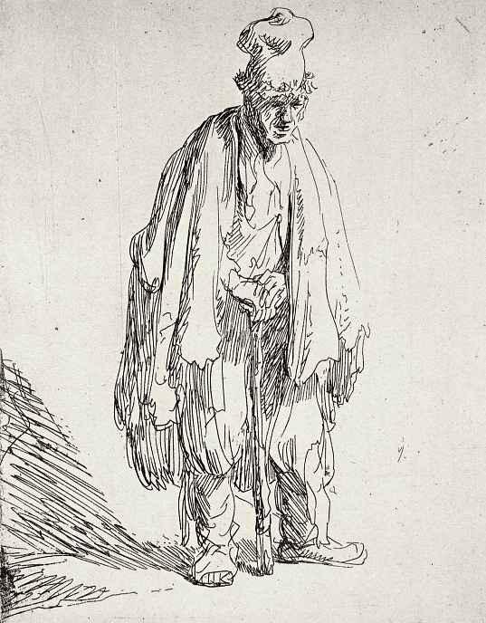 Рембрандт Харменс ван Рейн. Стоящий нищий