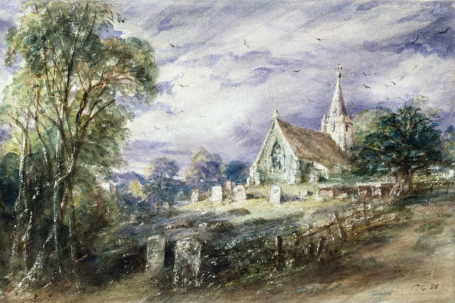 John Constable. Church Stoke-Poges, Buckinghamshire