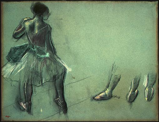 Эдгар Дега. Танцовщица взгляд сзади и три этюда ног