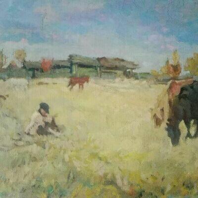 Evsey Evseevich Moiseenko. Shepherd