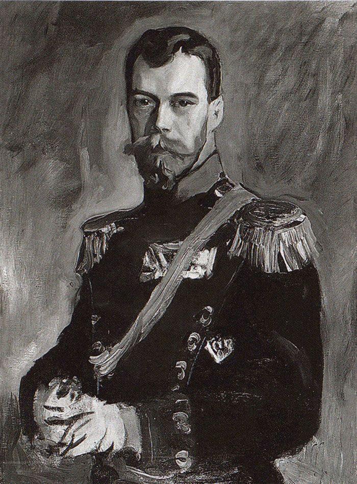 Валентин Александрович Серов. Портрет императора Николая II в мундире 80-го пехотного генерал- фельдмаршала князя А.И.Барятинского Кабардинского полка