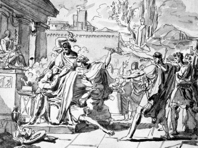 Жак-Луи Давид. Смерть Цезаря