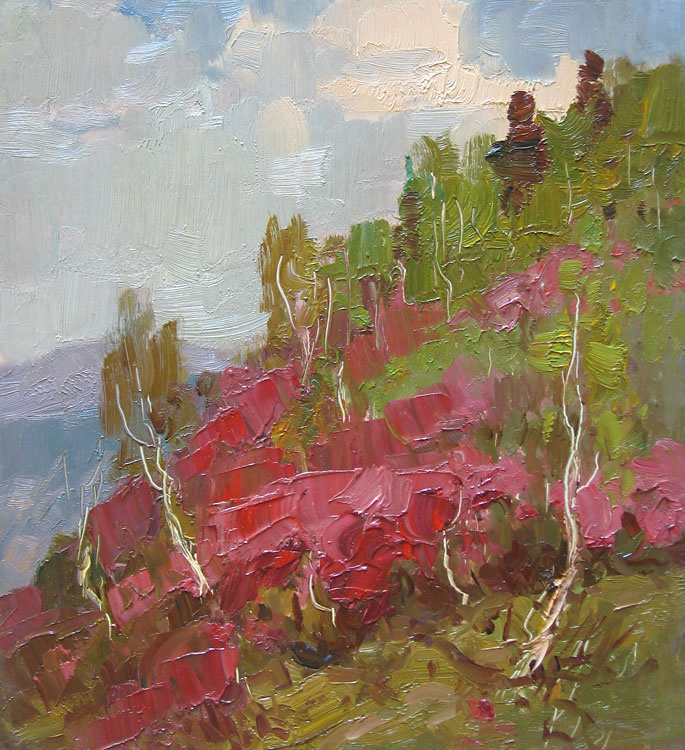 Vsevolod Andreevich Bazhenov. In the mountains of Altai.