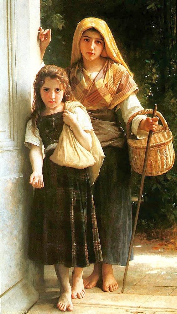 Адольф Вильям Бугро. Девушки с корзиной