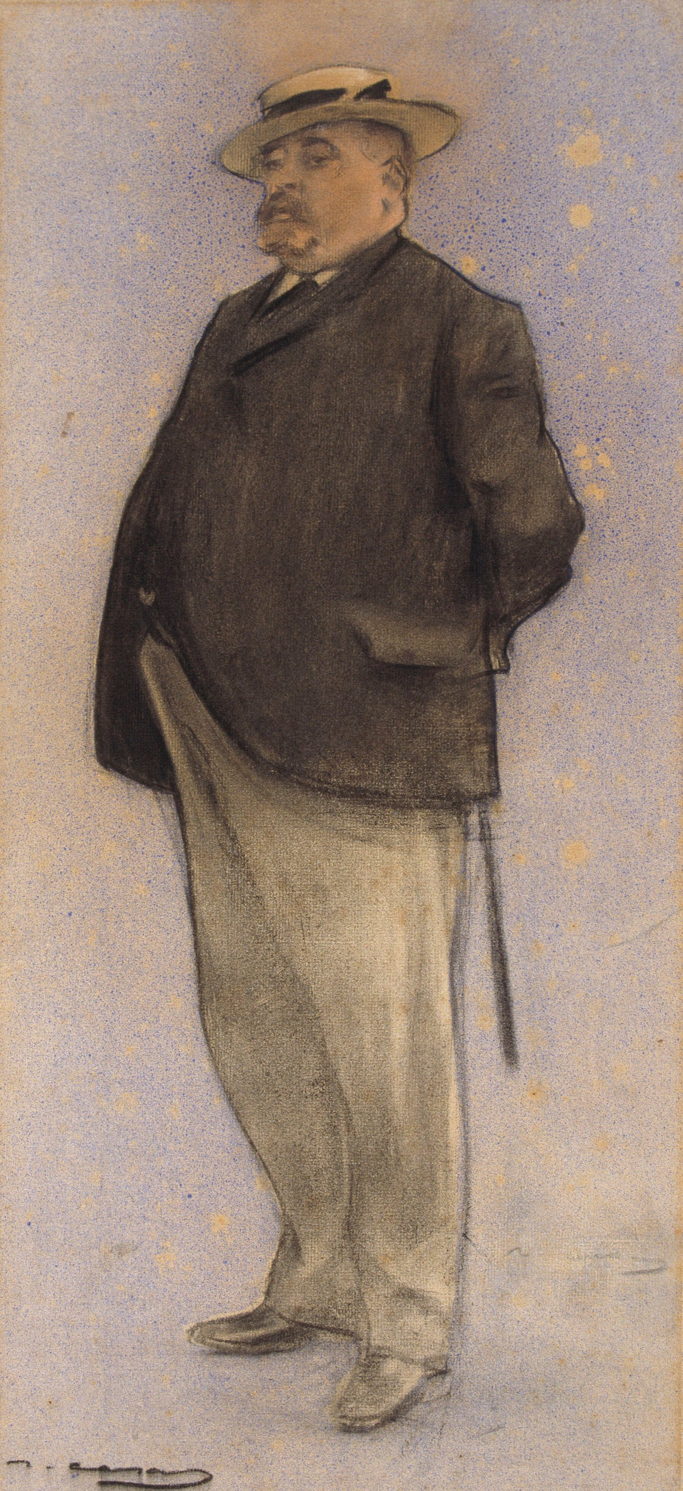 Ramon Casas i Carbó. Portrait of Daniel Ortiz