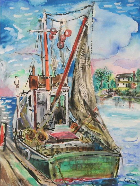 Давид Давидович Бурлюк. Рыболовное судно