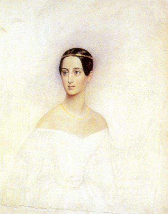 Karl Pavlovich Bryullov. Portrait of Grand Duchess Tatiana Alexandrovna