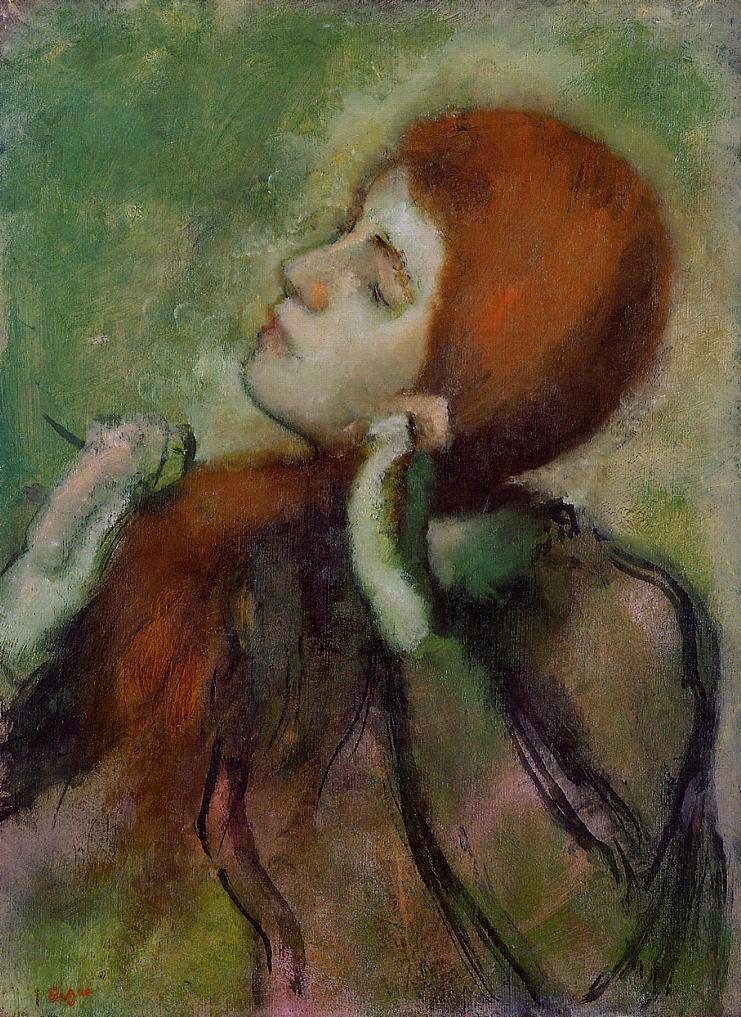 Эдгар Дега. Женщина, расчесывающая волосы