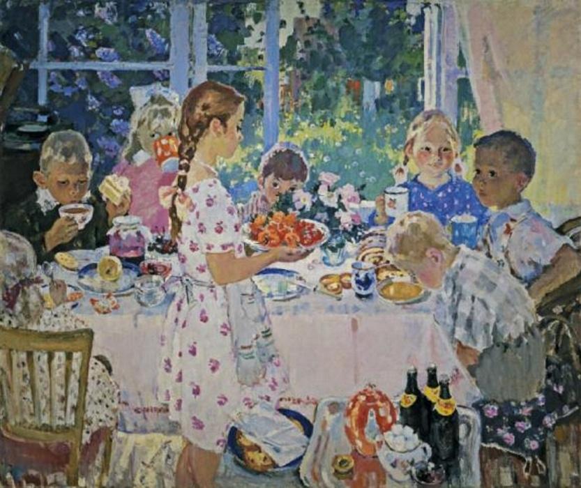 Olga Borisovna Bogaevskaya. Guests. Birthday