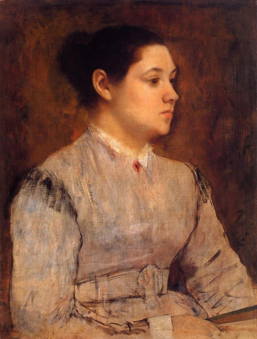 Edgar Degas. Portrait of a young woman