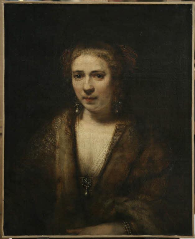 Rembrandt Harmenszoon van Rijn. Portrait of Hendrickje Stoffels in velvet beret