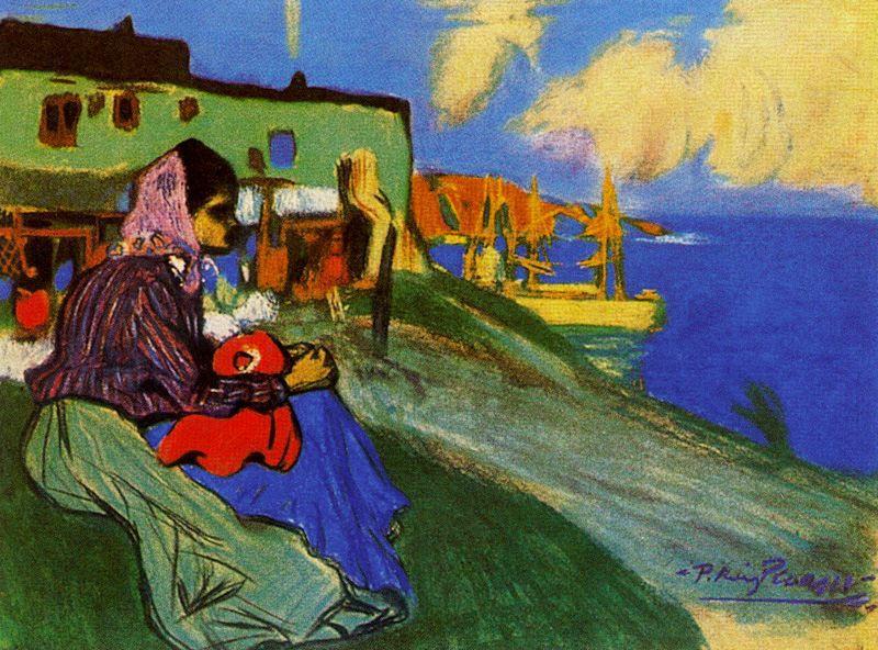 Пабло Пикассо. Цыганка на берегу