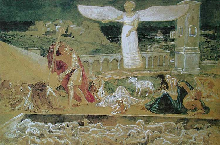 Alexander Andreevich Ivanov. The appearance of an angel announcing the birth of Christ to the shepherds