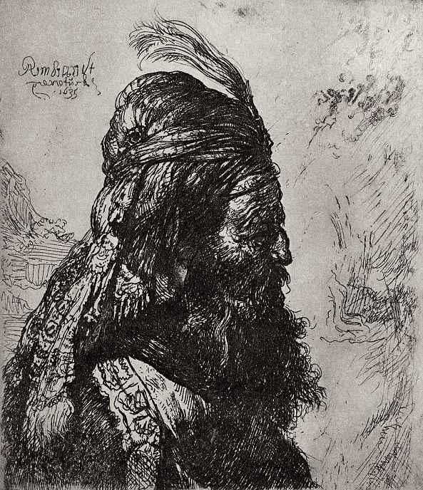 """Рембрандт Ван Рейн. Так называемая """"Восточная голова"""""""