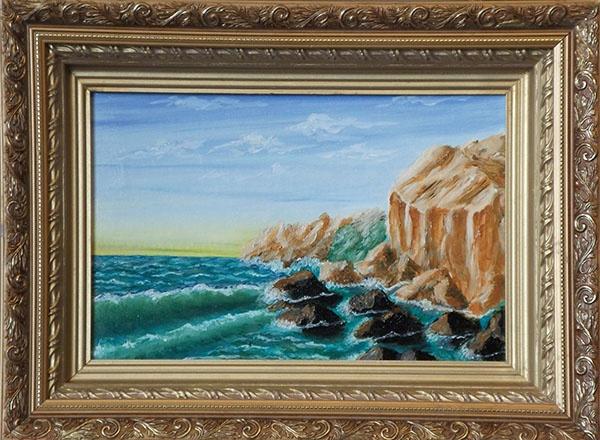 Victor Petrovich Burmin. By the sea.