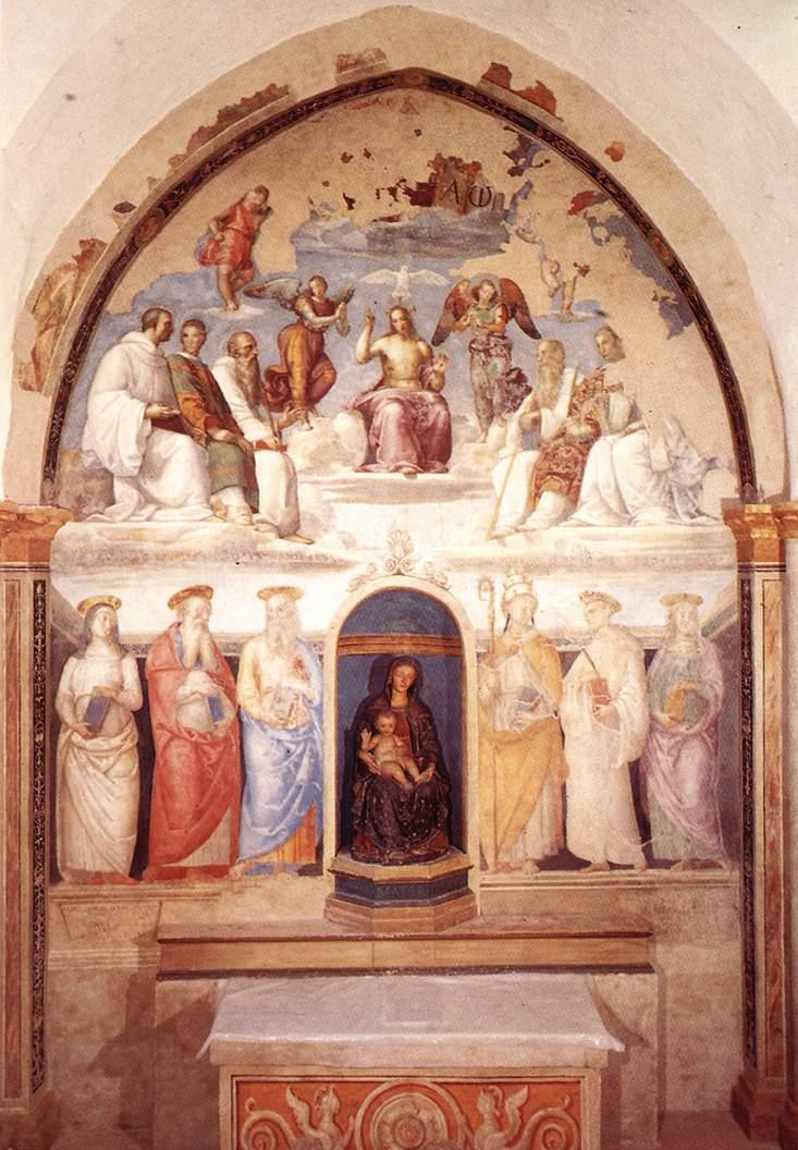 Pietro Perugino. Trinity and six saints