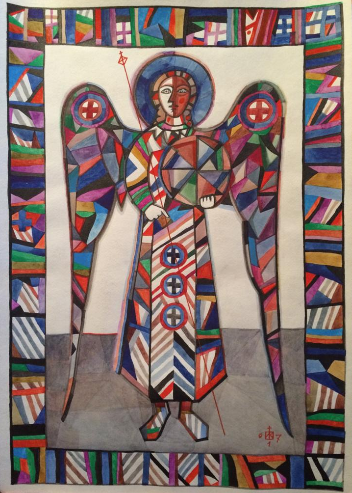 Igor Vasilyevich Kislitsyn. Angel with a blue halo