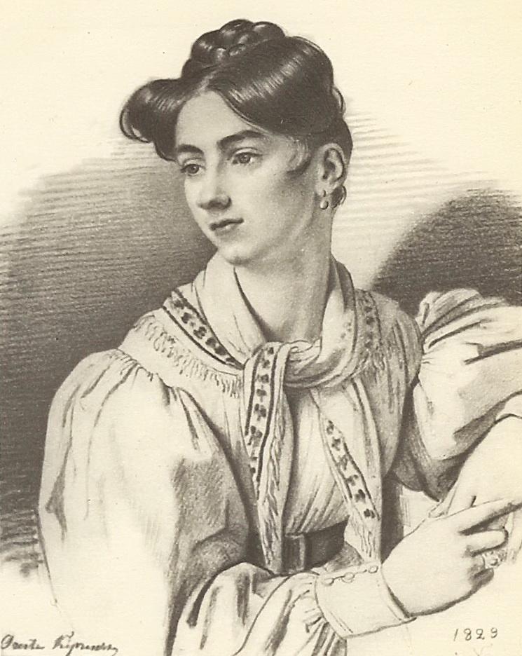 Орест Адамович Кипренский. Портрет неизвестной с косынкой на шее
