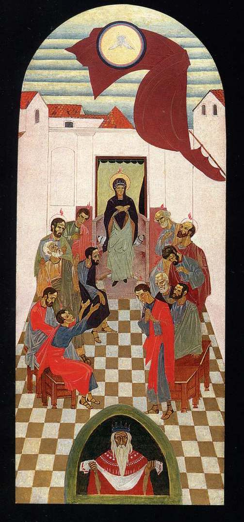 Peter Ivanovich Cold. The Descent of the Holy Spirit. Local iconostasis of the chapel of the Holy Spirit