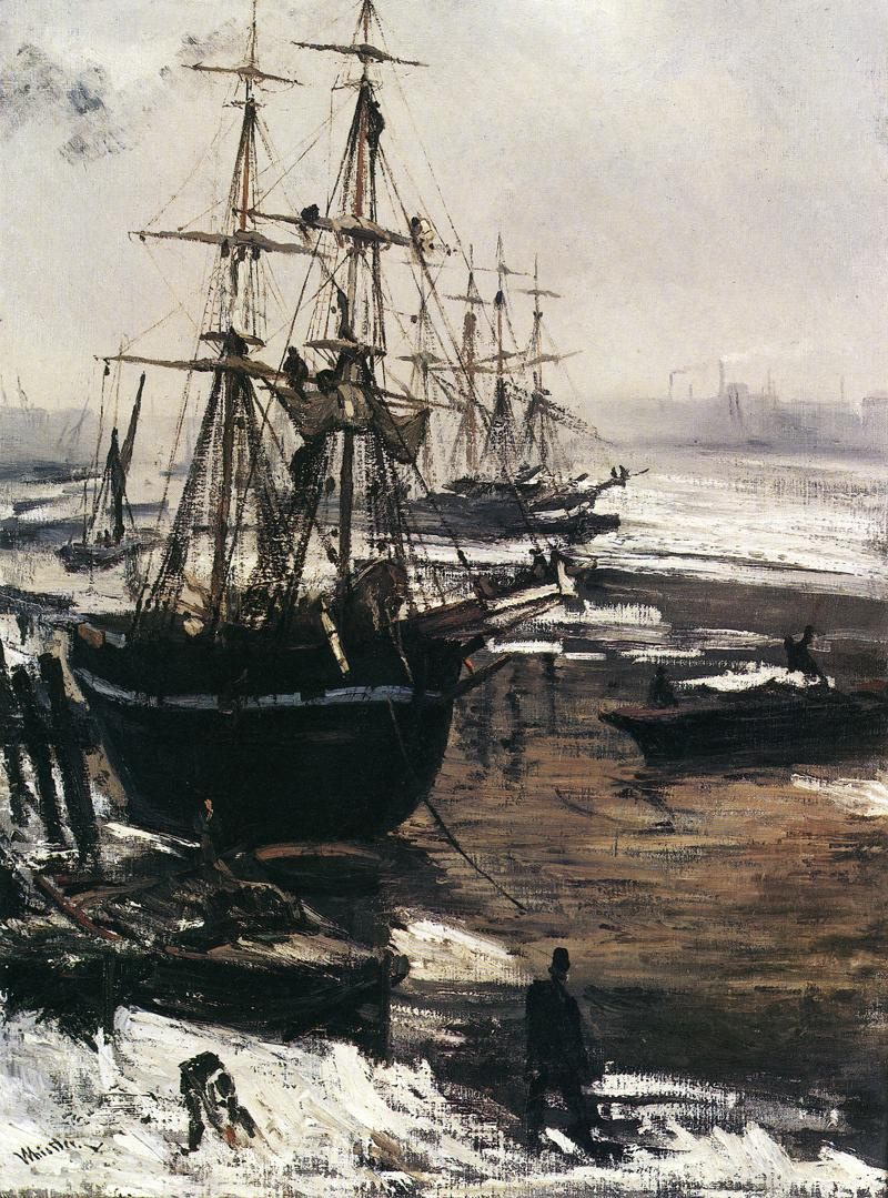 James Abbot McNeill Whistler. The Thames in ice