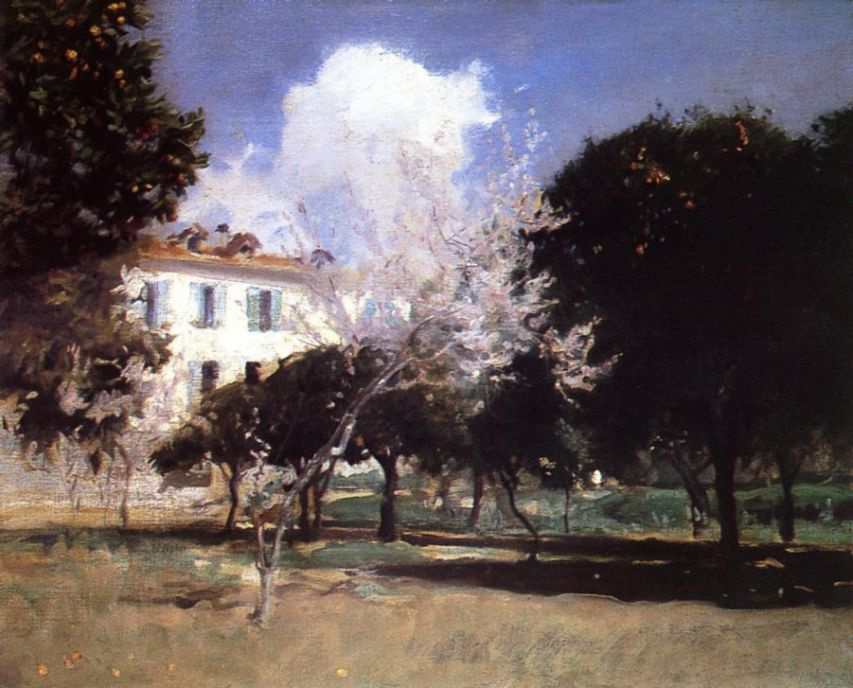 John Singer Sargent. A house and a garden