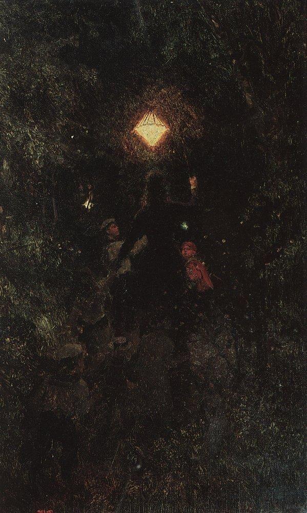 Илья Ефимович Репин. Прогулка с фонарями