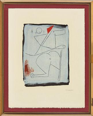 """Marino Marini. """"Acrobats"""" from the portfolio """"Idea a Spazio"""""""