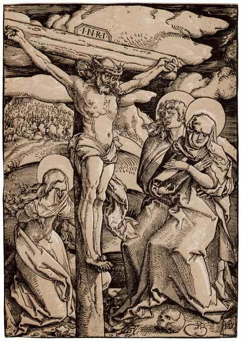 Ханс Бальдунг. Христос на кресте с Марией, Марией Магдалиной и Иоанном