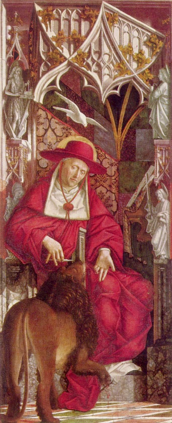 Michael Paher. Altarpiece of the Church fathers, the inner side of the left leaf. St. Jerome