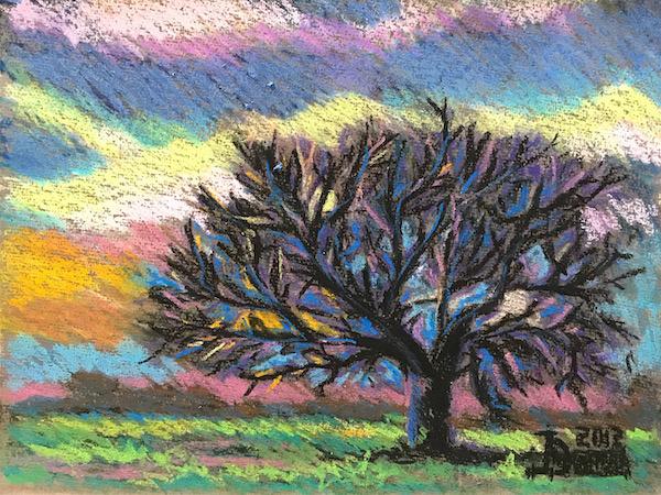 Larissa Lukaneva. Sleeping tree
