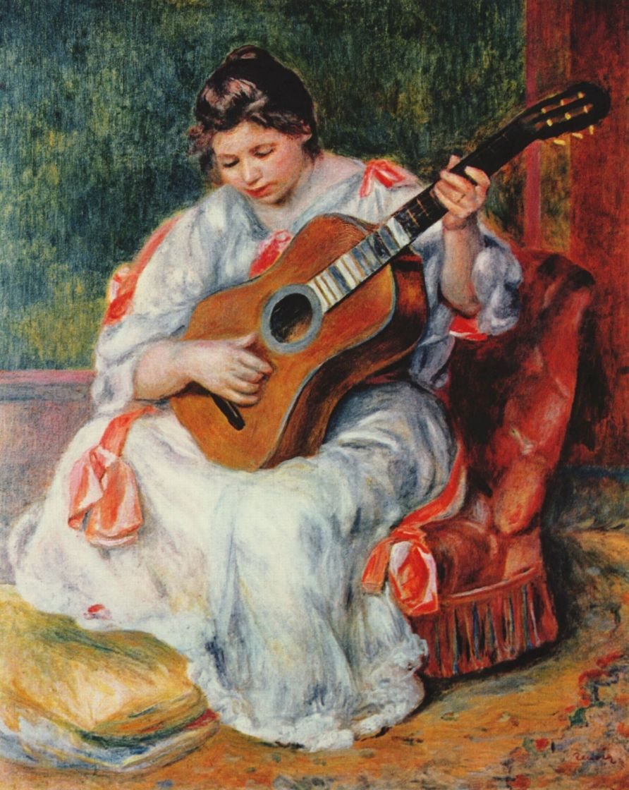 Pierre-Auguste Renoir. The woman playing the guitar