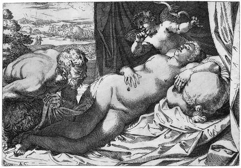 Аннибале Карраччи. Юпитер и Антиопа