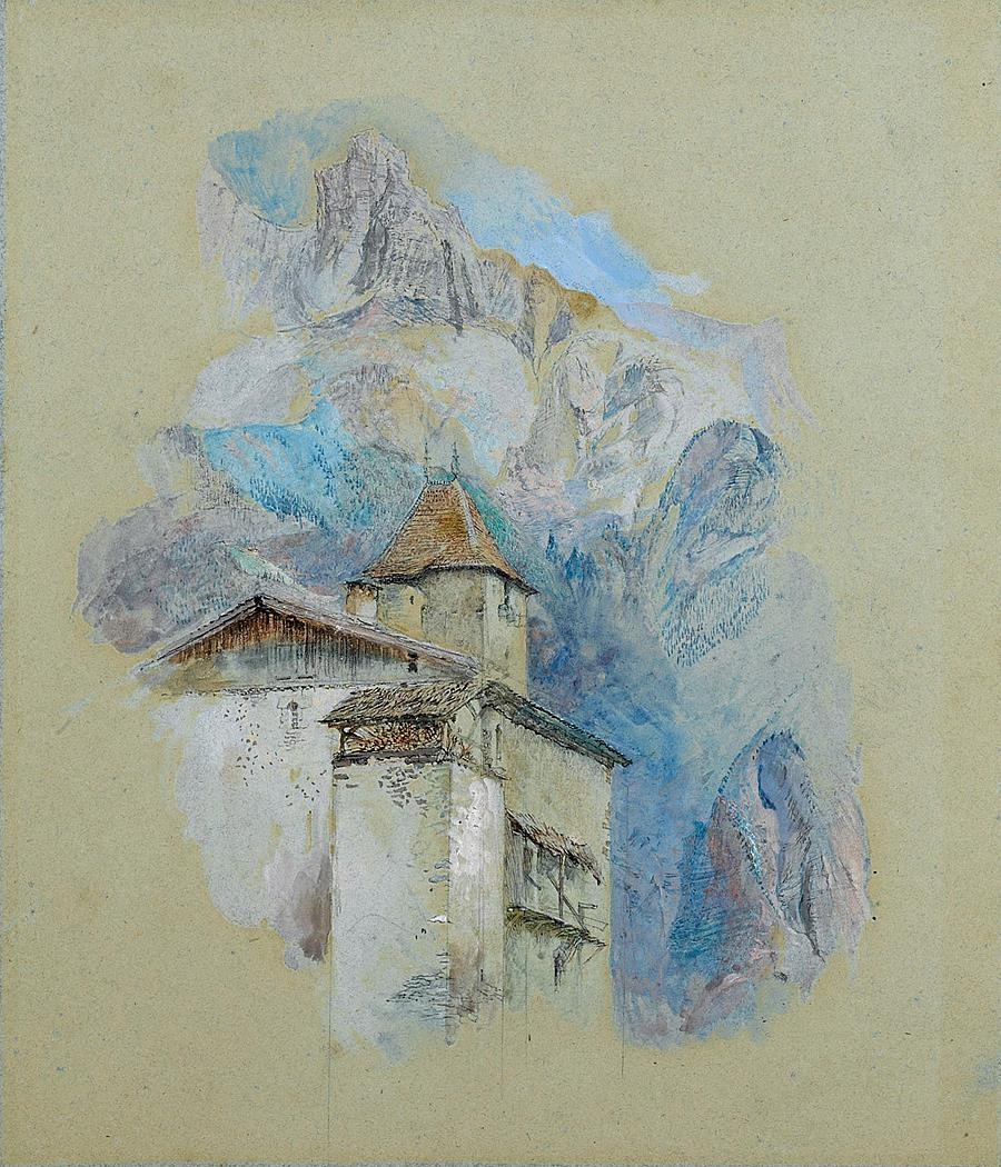 John Ruskin. Castle in the Alps