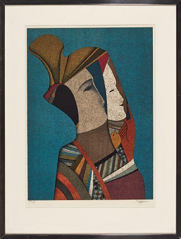 Mikhail Shemyakin. Двойной портрет Ребекки с маской.