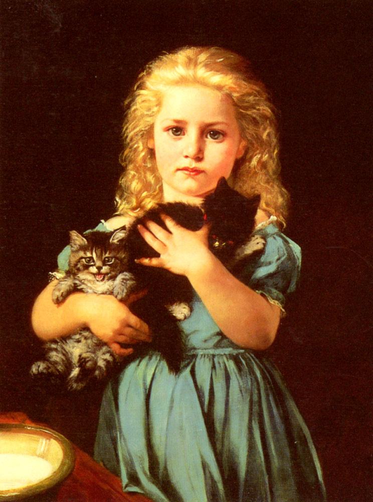 Катрин Амио. Девочка с котами