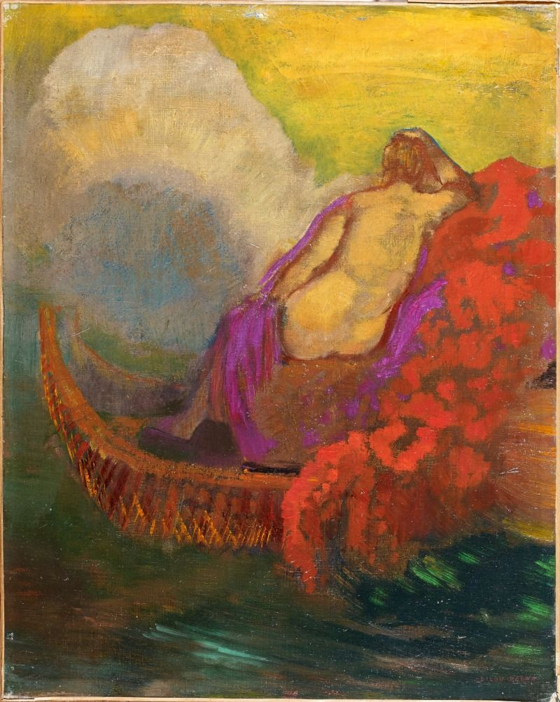Odilon Redon. Woman in the boat