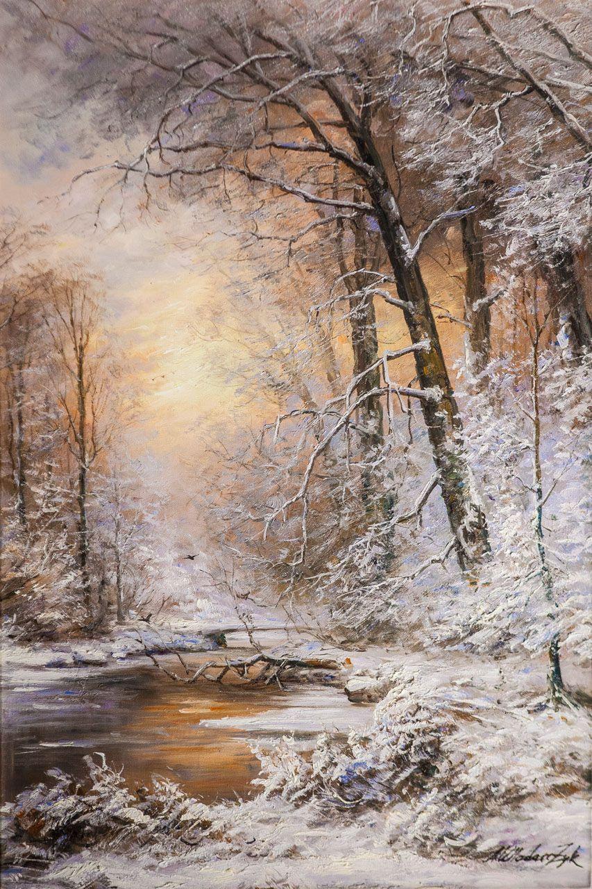 Andrzej Vlodarczyk. Winter forest shrouded in snow