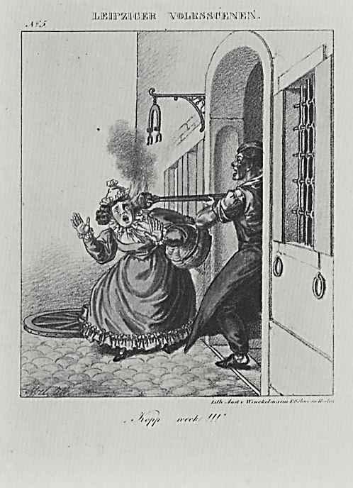 Адольф фон Менцель. Лейпцигские народные сценки, отдельный лист из юмористического журнала (03)