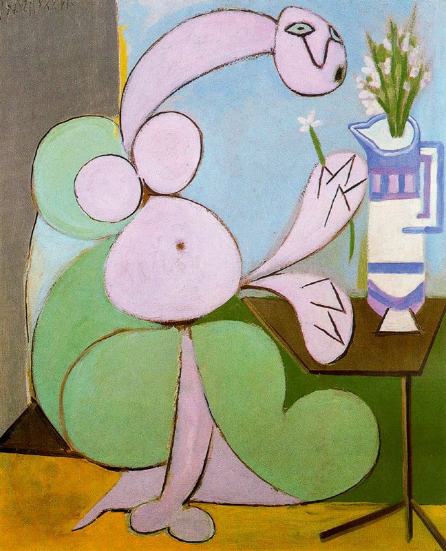 Pablo Picasso. Woman with bouquet