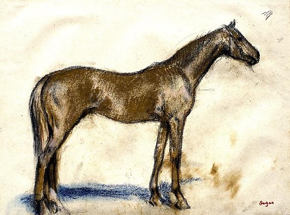 Edgar Degas. Racehorse
