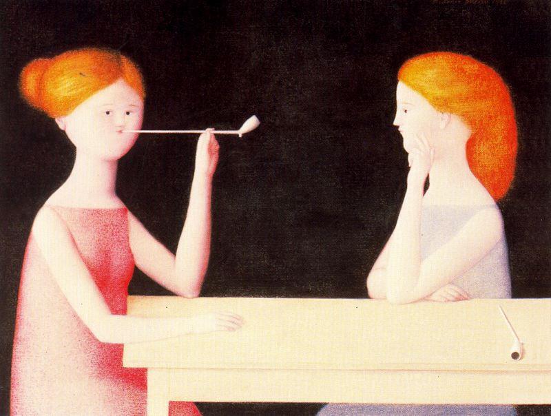 Антонио Буэно. Девушки с трубками