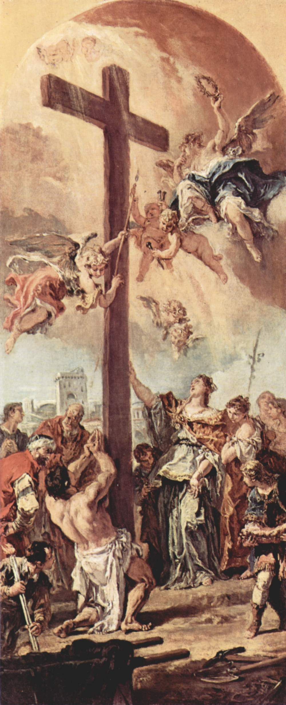 Sebastiano Ricci. The finding of the true cross by St. Helen, sketch