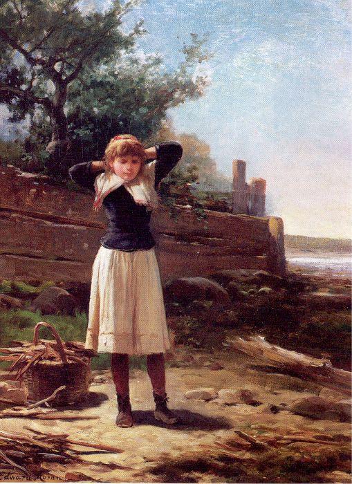 Эдвард Моран. Девочка на берегу