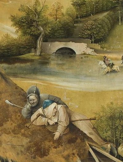 Hieronymus Bosch. The Adoration Of The Magi. The Central part of the triptych. Fragment