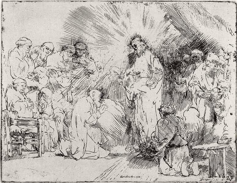 Рембрандт Ван Рейн. Христос, являющийся ученикам