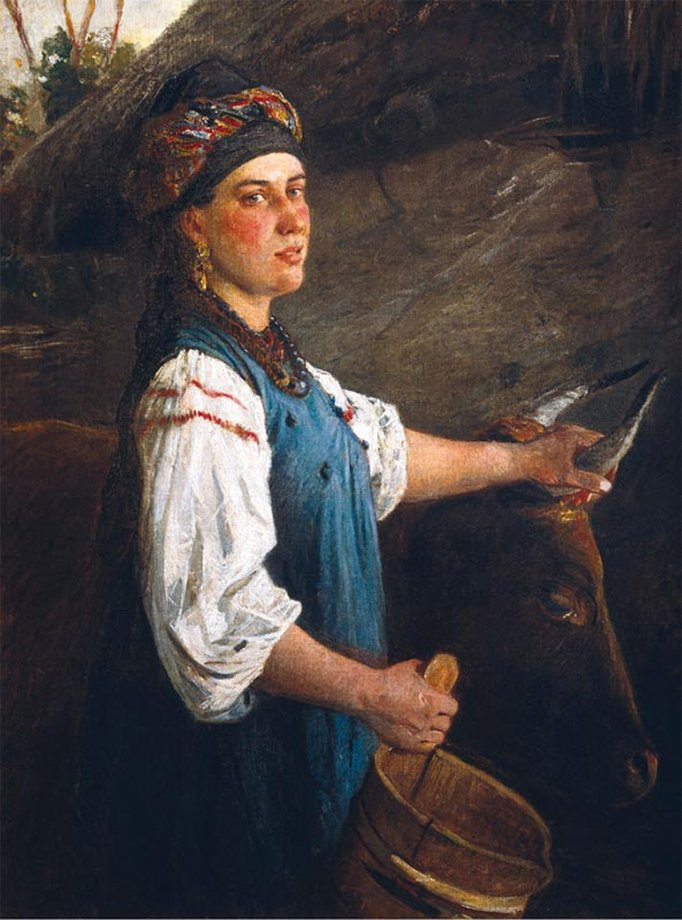 Николай Николаевич Ге. Портрет А.Г. Слюсаревой, жены сына художника (Галка с волами)