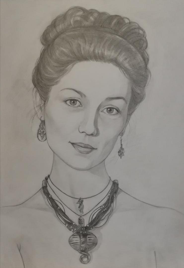 Ксения Михайловна Стеценко. Portrait by photo
